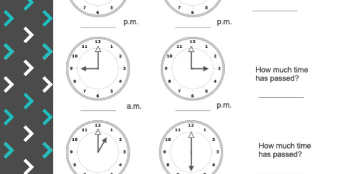 Clock Faces & Passing Time-Worksheet