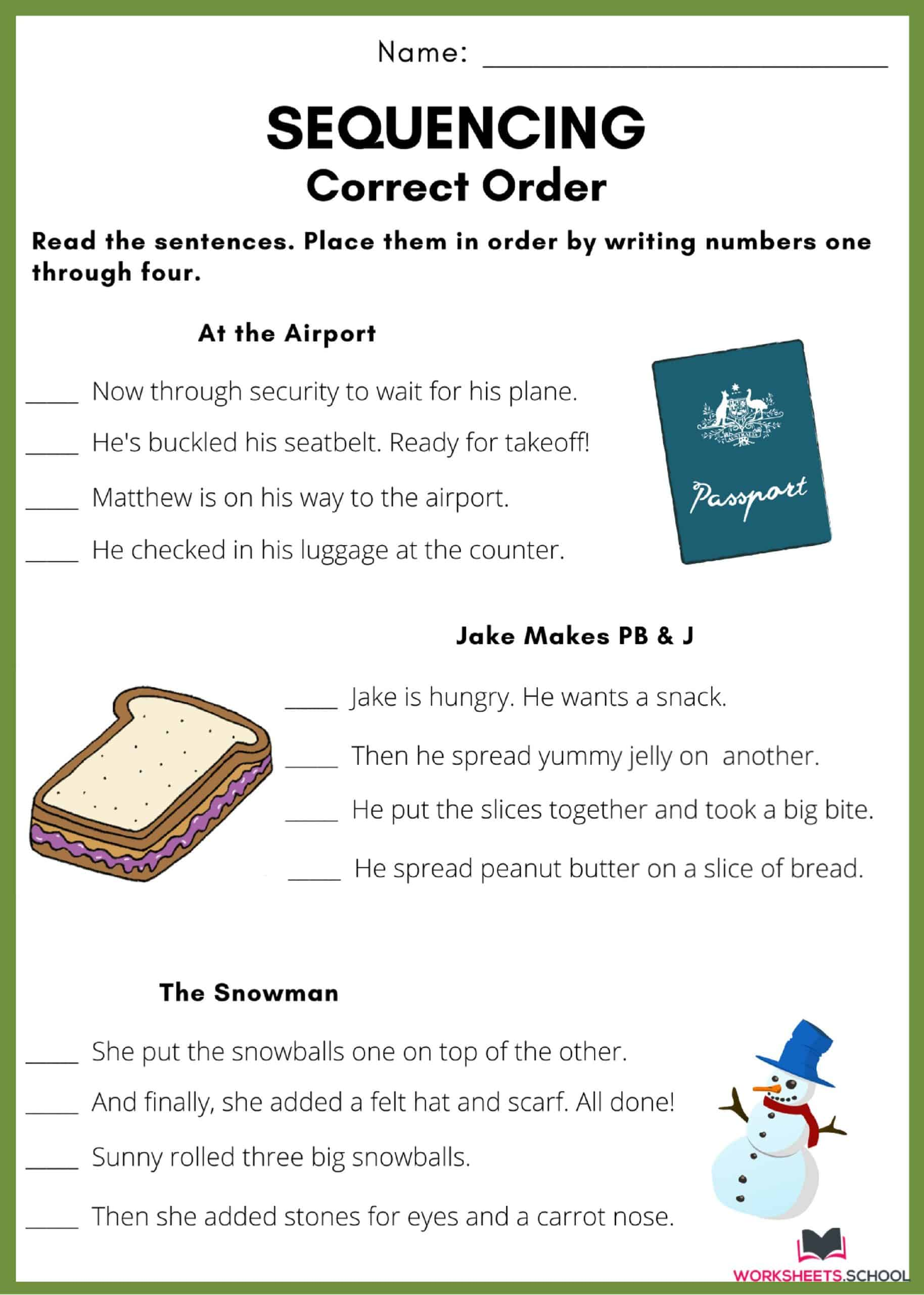 Sequencing Worksheet - Build the Story 3